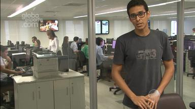 GloboEsporte.com faz transmissão em tempo real dos times baianos - Veja no recado de Raphael Carneiro.