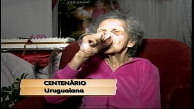 Idosa de Uruguaiana completa 100 anos - Aniversariante teve 23 filhos.