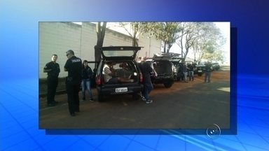 Polícia Civil prende quadrilha suspeita de furto a gado em Araçatuba - Uma quadrilha vinha sendo investigada há dois anos. Segundo a polícia, os criminosos agiam aqui e em outras regiões do estado. Foram presas 16 pessoas, nesta terça-feira (11) durante uma operação da Polícia Civil de Araçatuba (SP). Elas são suspeitas de participar de uma quadrilha que furtava gado.