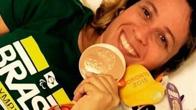 Nadadora baiana Verônica Almeida ganha medalha de bronze no Parapan de Toronto - A terceira colocação foi na prova 50 metros livre.