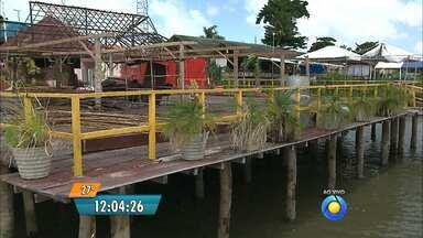 Começam a ser desmontados os bares da praia do Jacaré na Paraíba - Sudema pediu um plano de demolição aos donos dos bares.