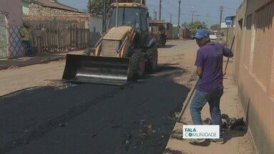 Em Porto Velho, Rua Pau Ferro recebe reparos - Buracos nas ruas prejudicava passagem de pedestres e motoristas.