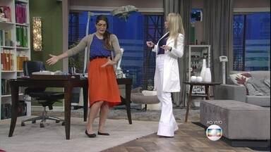 Joice arma plano mirabolante com falsa médica - Cunhada de Arnaldo (Eri Johnson) acerta detalhes com Paula (Danielle Winits)