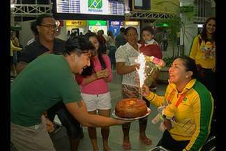Paraenses do basquete são recebidas com festa após o bronze nos Jogos Parapan-Americanos - Paraenses do basquete são recebidas com festa após o bronze nos Jogos Parapan-Americanos