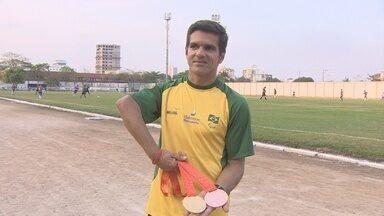 Edson Cavalcante conquista ouro e bronze no Parapan - Aleta de Rondônia participaou do Parapan em Toronto.