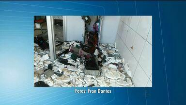 Bandidos explodem banco no Sertão da Paraíba - Caso aconteceu na cidade de Santa Cruz