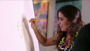 Anitta faz arte no Domingão - Confira o que a cantora aprontou e divirta-se