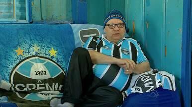 Torcedor apaixonado pelo Grêmio mostra a 'Casa Tricolor' - Fora de casa, Grêmio não saiu do 0 a 0 contra a Ponte Preta.