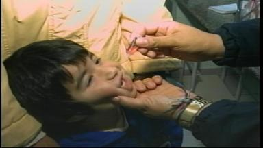 Vacinação contra a poliomielite vai até a próxima segunda-feira (31) - Procura em Uruguaiana, RS, está abaixo do esperado.