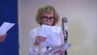 Arlete Salles relembra tempo de rádio com Roberto Canázio - Confira a visita da atriz e de Angélica nos estúdios da Rádio Globo