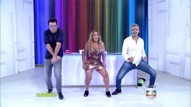 Reveja Susana Vieira dançando funk no estúdio do Vídeo Show - Atriz se jogou no batidão
