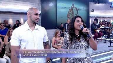 Bruno e Gabriela se conheceram em micareta - Encontro do casal foi há 7 anos e agora eles vão se casar