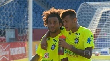 Brasil faz amistoso com os Estados Unidos na casa do New England Patriots - Dunga não divulga escalação para jogo e mantém suspense sobre Neymar.