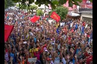 Operários da construção civil entram em greve - Paralisação foi encerrada ainda durante a manhã.