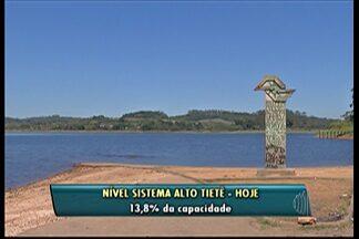 Sistema Alto Tietê opera em 13,8% após dias de chuva - Choveu o equivalente a 91,2 milímetros.
