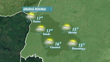 Tem previsão de novos temporais para o Paraná - Alertas foram emitidos pelos meteorologistas. Há possibilidade de ocorrer queda de granizo e ventos fortes.
