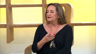 Lucinha Araujo fala sobre seu trabalho na Sociedade Viva Cazuza - Instituição dá assistência a crianças e adolescentes portadoras do vírus da aids
