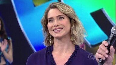 Faustão lembra época de Letícia Spiller como Paquita - 'Domingão' relembra momentos da carreira da atriz