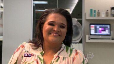 Empregada doméstica do ES vive 'dia de patroa' no programa Mais Você - Eliana Santos é moradora de Cariacica.