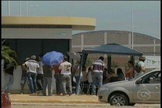 Servidores em greve fecham os portões da Univasf em Petrolina - Ato faz parte das mobilizações contra pacote de cortes do Governo Federal.
