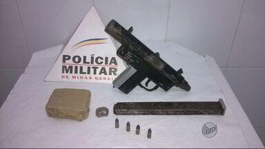 Polícia apreende submetralhadora e 0,5 Kg de maconha em Pouso Alegre (MG) - Polícia apreende submetralhadora e 0,5 Kg de maconha em Pouso Alegre (MG)