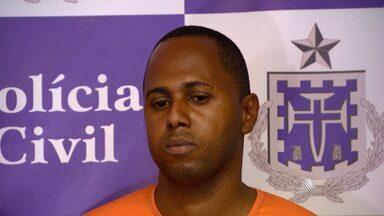 Polícia apresenta suspeito de matar PRF durante assalto - Crime aconteceu na semana passada no bairro da Pituba.