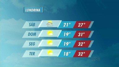 Meteorologia prevê sol a partir de domingo - Ainda tem previsão de chuva neste sábado.