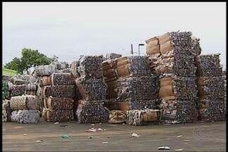 Procura por material cai e preocupa Cooperativa de Recicladores em MG - Empresas estão comprando menos em Uberlândia por causa da crise. Preço da maioria dos materiais processados na Coru também diminuiu.