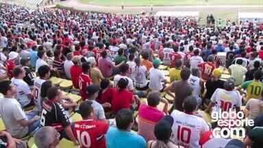 Público comparece ao jogo de River-PI e Estanciano na série D do Brasileirão - Público comparece ao jogo de River-PI e Estanciano na série D do Brasileirão