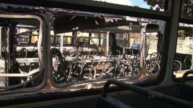 Vândalos deixam estudantes sem transportem em Florestópolis - Os ônibus estavam no pátio de máquinas da prefeitura da cidade.