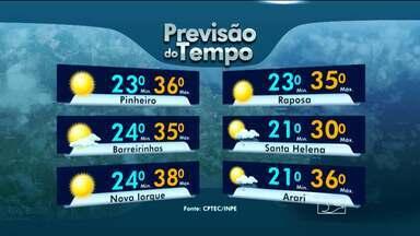 Veja a previsão do tempo para esta segunda-feira (5) - Tempo quente nesta segunda-feira em boa parte do Maranhão.