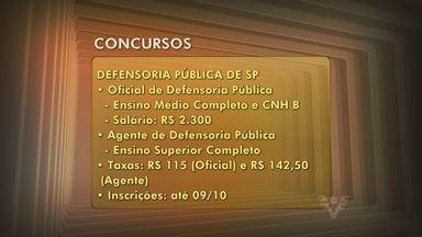 Confira as oportunidades de emprego para região - Veja as oportunidades desta semana. Tem vagas em concursos públicos aqui para região.