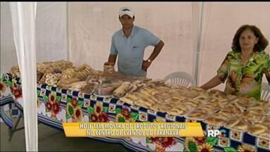 Hoje tem mostra de produtos regionais em Paranavaí - A feira com alimentos, artesanatos e flores é no Centro de Eventos da cidade e vai até às oito horas da noite. A mostra faz parte do Fórum de Turismo que está sendo feito no município.