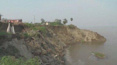 Defesa Civil avalia área que desmoronou no Amazonas - Caso ocorreu na cidade de Iranduba.