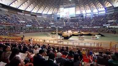 Fiéis comemoram, em BH, 60 anos da Associação Mineira da Igreja Adventista do Sétimo Dia - Em Minas, são cerca de mil igrejas e mais de 80 mil adventistas.