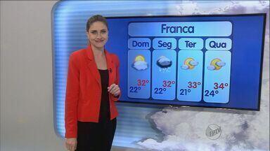 Confira a previsão do tempo para o feriado prolongado - Possibilidade de chuva somente para o feriado na segunda-feira (12).