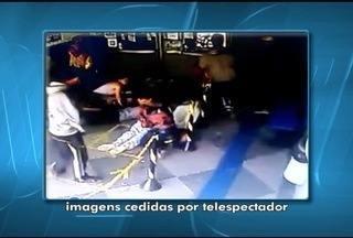 Em Montes Claros, dois homens tentam assaltar uma casa lotérica no Bairro JK - Eles não conseguiram quebrar o vidro do caixa e saíram sem levar nada.