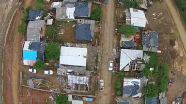 Drone faz sobrevoo por Ipiranga depois da tempestade - Um hospital de campanha já está funcionando.