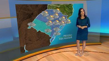 Chuva volta a ganhar intensidade neste domingo (10) - Em Uruguaiana, na Fronteira Oeste, amanhecer terá temperatura próxima aos 10ºC.
