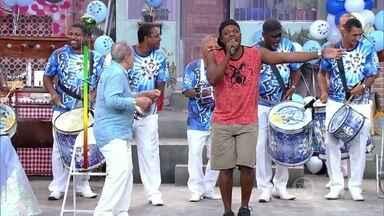 Anacleto canta samba enredo para Seu Bira - Time do Marcelo Serrado assume a brincadeira