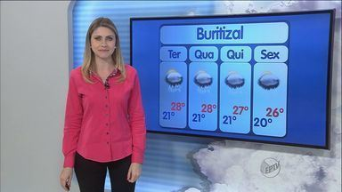 Previsão é de chuva na região de Ribeirão Preto nesta terça-feira (27) - Temperatura máxima em Nuporanga, SP, pode chegar aos 29 graus.