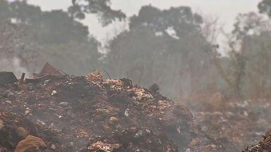 Continua problema do fogo no lixão de Sinop - Continua problema do fogo no lixão de Sinop
