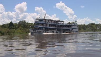 Vazante prejudica navegação em rios amazônicos - Muitos bancos de areia tem aparecido e gera preocupação para navegantes.