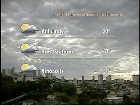 Meteorologia prevê tempo instável para o Oeste Paulista nesta sexta-feira - Sol aparece entre nuvens, mas há chances de chover no final do dia.