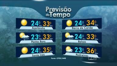 Veja como fica o tempo nesta sexta-feira, no Maranhão - Em todo o Maranhão, sol e calor. A umidade do ar deve ficar mais baixa na região centro-sul maranhense.