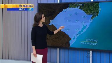 Tempo: chuva retorna ao RS no domingo (8) - No sábado, o tempo fica seco na maioria das regiões.