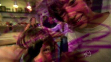 Pais relatam o desafio de impor limite aos dois filhos cheios de energia - Crianças aprontam e 'pintam' até a câmera da reportagem