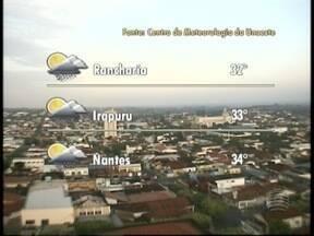 Oeste Paulista pode ter chuva nesta segunda-feira - Ao longo do dia, termômetros podem marcar até 33 ºC.