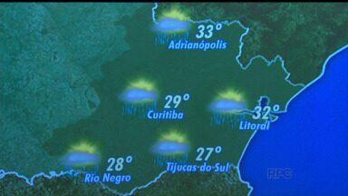 Confira a previsão do tempo para quarta-feira (11) - Em Curitiba, mínima de 19 graus e máxima de 29 graus.