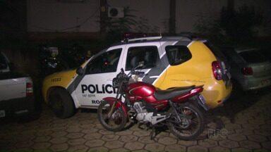 Motocicleta roubada na Vila C Velha é recuperada pela Polícia Militar - Outras duas motocicletas também foram roubadas.